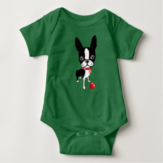 Mirabelle the boston terrier baby shirt