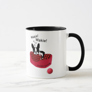 Mirabelle the boston terrier Wakie! Wakie Mug