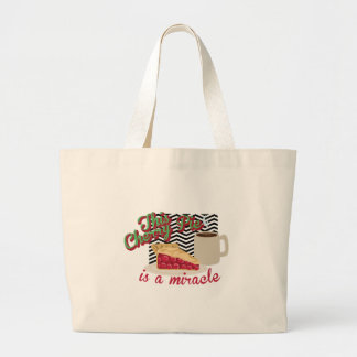 Miracle Cherry Pie Large Tote Bag