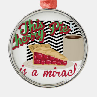 Miracle Cherry Pie Metal Ornament