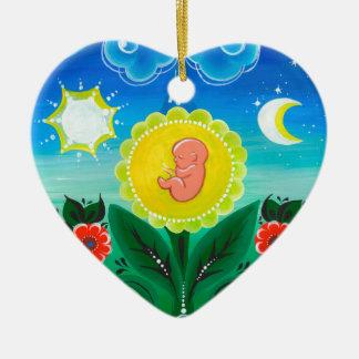 Miracle of Life Ceramic Ornament