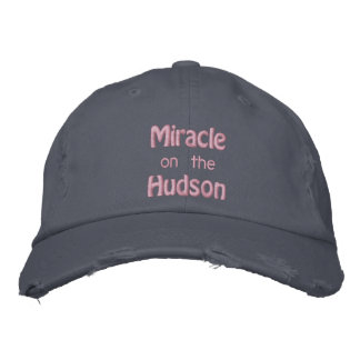 Miracle on the Hudson River Embroidered Hat