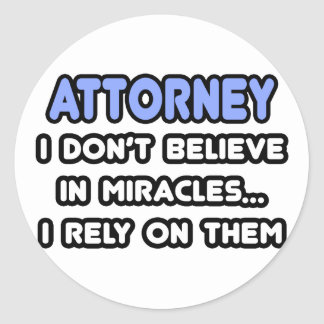 Miracles and Attorneys Stickers