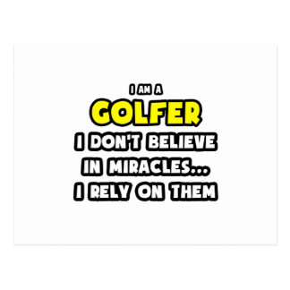 Miracles and Golfers ... Funny Post Cards