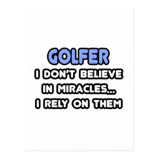 Miracles and Golfers Postcards