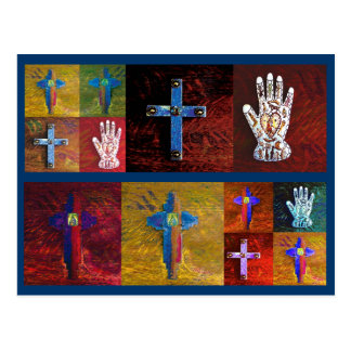 Miracles (blue) postcard