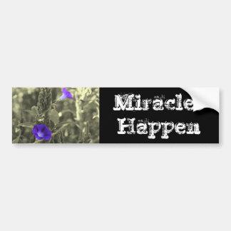 Miracles Happen Inspirational Bumper Sticker Car Bumper Sticker