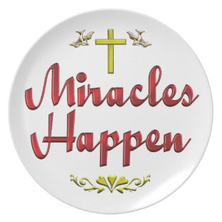 Miracles Happen Plate