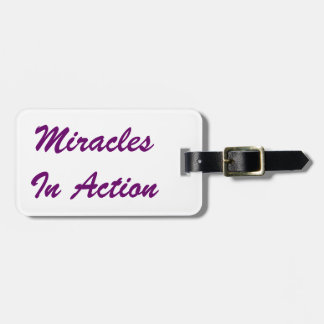 Miracles In Action Luggage Tag