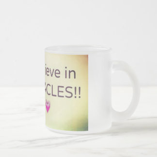 miracles frosted glass mug