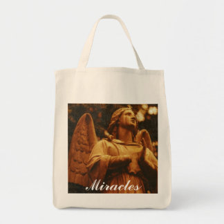 """Miracles"" Reusable Grocery Tote Grocery Tote Bag"