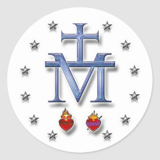 Miraculous Medal Classic Round Sticker