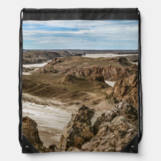 Miradores de Darwin, Santa Cruz Argentina Drawstring Bag