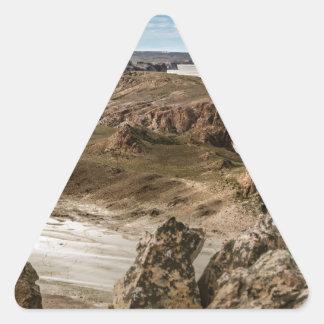 Miradores de Darwin, Santa Cruz Argentina Triangle Sticker