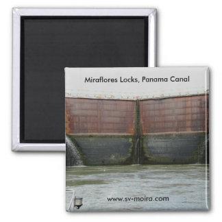 Miraflores Locks, Panama Canal Square Magnet