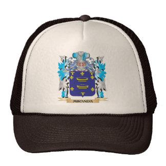 Miranda Coat of Arms - Family Crest Hats