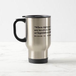 Miranda vs Arizona 384 US 436 p 491 1966 Travel Mug