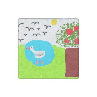 mira's summer stone magnet