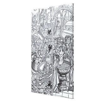 'Mirouer Historial de France' Gallery Wrap Canvas