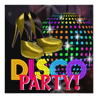Mirror Ball Disco Dance Party Invitations