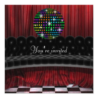 Mirror Ball Disco Party Invitation Template