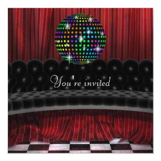 Mirror Ball Disco Party Invitation Template