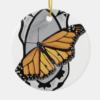 Mirror Butterfly Ceramic Ornament