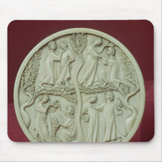 Mirror case depicting courtly scenes, c.1320-30 mousepads