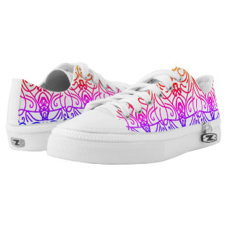 Mirror colours printed shoes
