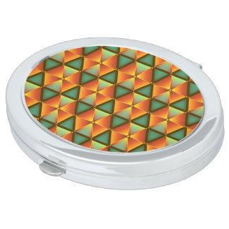 Mirror honeycomb sample travel mirror