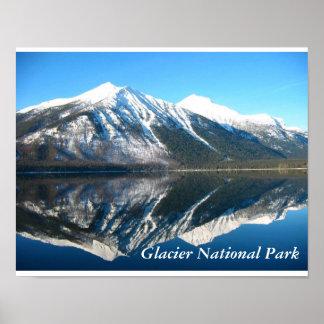 Mirror image of Lake McDonald Poster