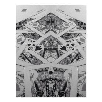Mirror Image Playing Cards Postcard