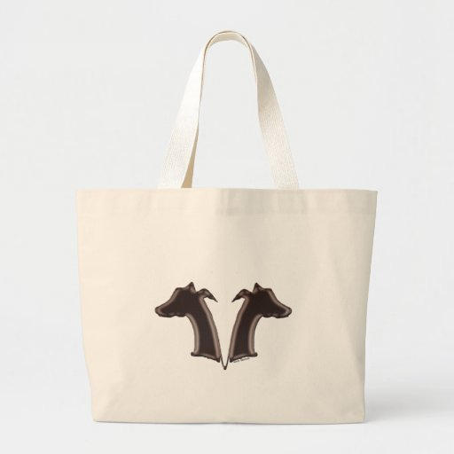 Mirror Image Whippets Canvas Bag