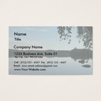 Mirror Lake After Sunset Business Card
