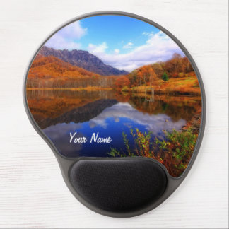 Mirror Lake Autumn Landscape Reflection Water Fall Gel Mouse Pad