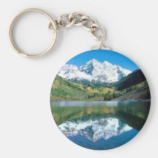 Mirror Lake Basic Round Button Key Ring