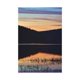 Mirror lake gallery wrapped canvas