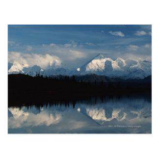 Mirror Lake Horizon with Forest & Snowy Mountains Postcard