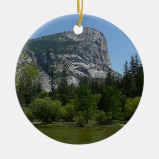 Mirror Lake II in Yosemite National Park Round Ceramic Decoration