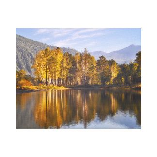 Mirror lake in Autumn Canvas Print