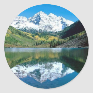 Mirror Lake Round Sticker