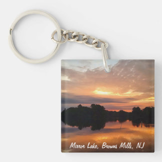 Mirror lake Single-Sided square acrylic key ring