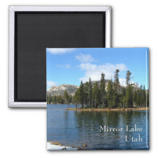 Mirror Lake Square Magnet