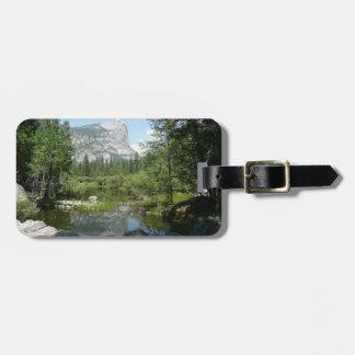 Mirror Lake View in Yosemite National Park Bag Tags