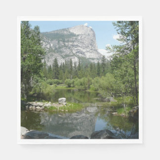 Mirror Lake View in Yosemite National Park Paper Napkin