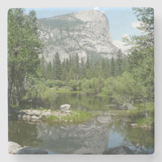 Mirror Lake View in Yosemite National Park Stone Coaster