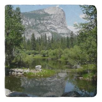 Mirror Lake View in Yosemite National Park Trivet