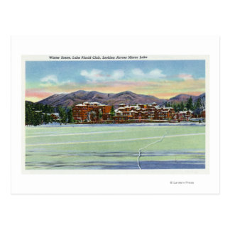 Mirror Lake View of the Lake Placid Club in Postcard