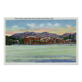 Mirror Lake View of the Lake Placid Club in Poster