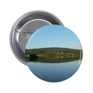 Mirror Lake With Green Hill Pinback Buttons